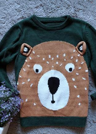 Свитер с медведем для мальчика