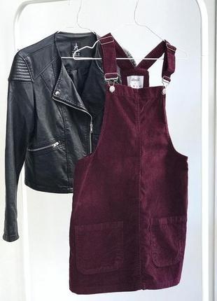 Вельветовый сарафан платье сукня плаття бордо
