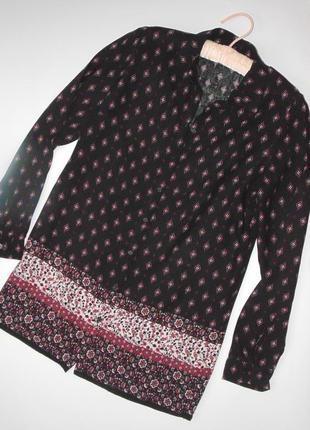 Стильная принтовая рубашка 10 размера new look