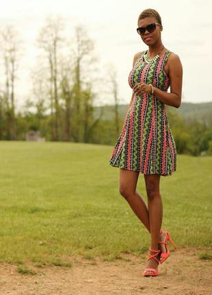 Пышное платье в геометрический ацтек принт2 фото