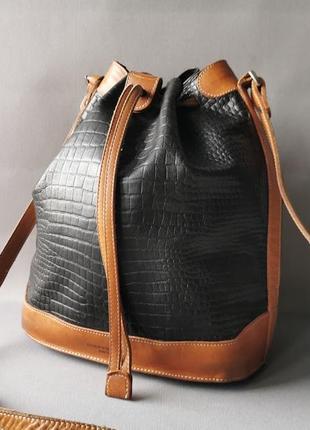 Courreges bucket bag кожаная сумка, франция