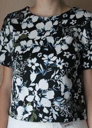 Фактурная блуза в цветочный принт