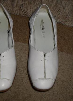 Элитные мягенькие комфор.бренд.туфли-мокасины softwalk,полн.кожа,германия