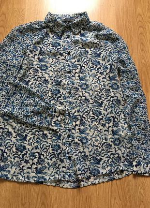 Блуза шифоновая с цветочным принтом