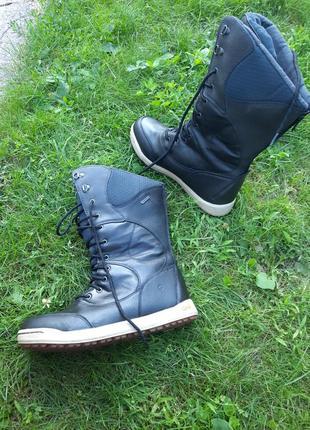 41-42 р. термоботинки, сапоги кожаные hi- tec. снегоходы, сноубутсы. ботинки для охоты или рыбалки