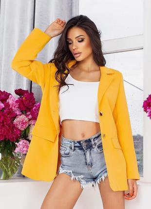 Удлиненный пиджак свободного кроя