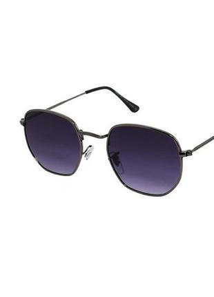 Солнцезащитные очки giovanni bros шестиугольные в черной оправе