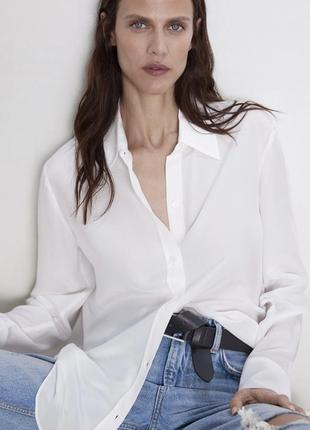 Шелковая блуза zara оригинал