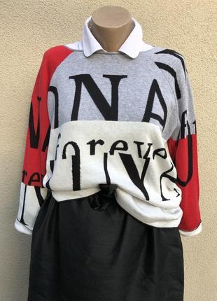Стильный джемпер,реглан,кофта,свитер,monari,италия,