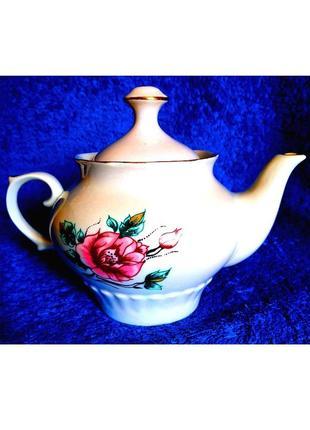 Винтажный чайник заварник фарфоровый 💖 650 мл