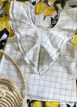 Классная белая блуза zara с примесью льна 🤍🤍