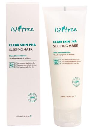 Маска ночная обновляющая с pha кислотой  isntree clear skin pha sleeping mask, 100 мл