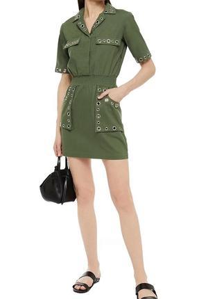 Платье мини из коттона-габардина maje