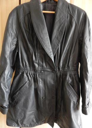 Куртка кожаная женская на утеплителе  50 размер