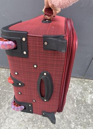 Sale! чемодан дорожный большой, тканевый дорожный большой чемодан, валіза дорожня велика7 фото