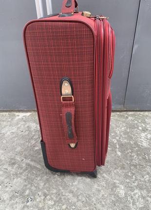 Sale! чемодан дорожный большой, тканевый дорожный большой чемодан, валіза дорожня велика6 фото