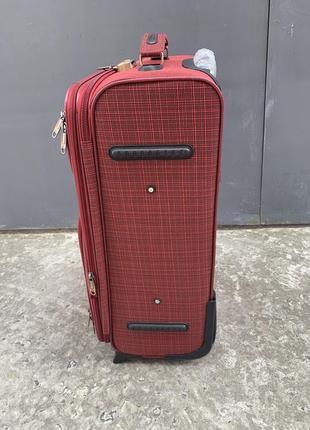 Sale! чемодан дорожный большой, тканевый дорожный большой чемодан, валіза дорожня велика4 фото