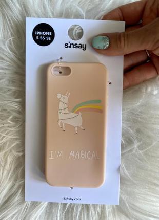 Iphone 5 чехол лама персиковый