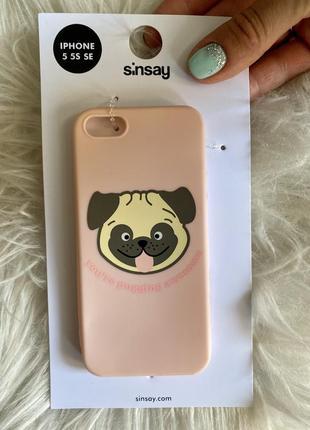 Iphone 5 чехол мопс