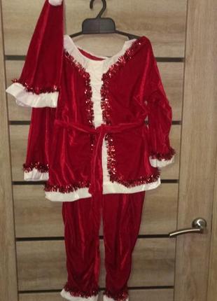 Новогодний костюм санта клаус гном
