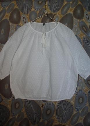 Аккуратная блуза блузон benetton этно бохо шитье хлопок