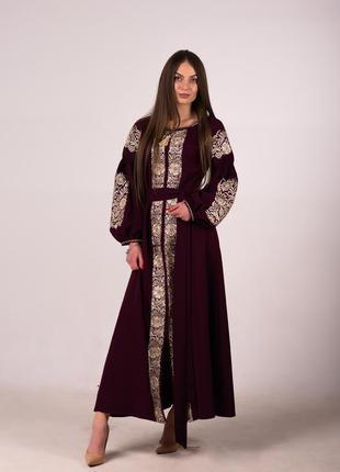 Роскошное вышитое платье вышиванка вишита сукня вишиванка