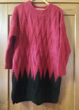 Теплый мохеровый свитер
