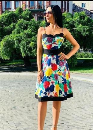 Женское летнее платье хлопок