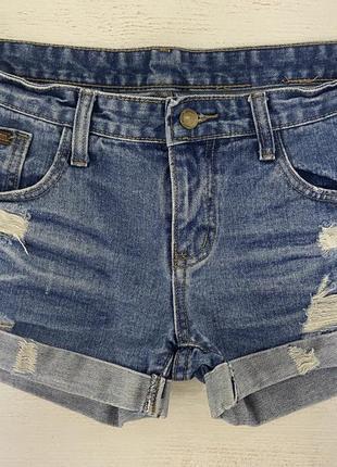 Актуальные джинсовые шорты турция размер 30 m-l
