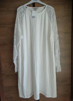 Платье футболка с длинным рукавом туника