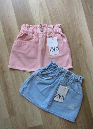 Детская джинсовая юбка zara 3-4 года , 104 см