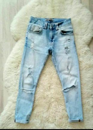 Джинсы бойфренд мом mom jeans