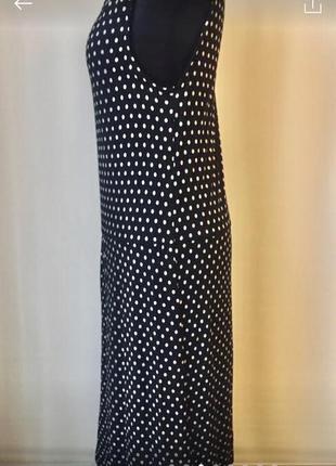 Легкое платье из вискозы в принт горошек