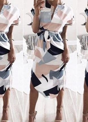Летнее платье с поясом, супер качество! сарафан с поясом
