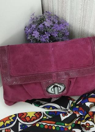 Кожаная  сумка, клатч next, натуральная кожа