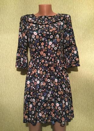 Платье летнее в цветы от miss selfrige размер 8/10