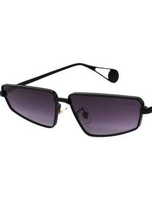 Стильные солнцезащитные очки унисекс черные оправа металл