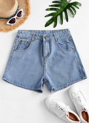 Tally weijl джинсовые свободные шорты,высокая посадка