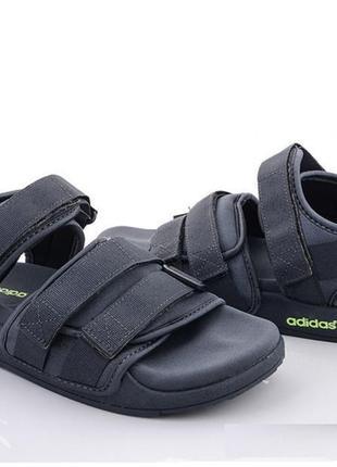Мужские сандалии adidas adilette sandals серые🔥