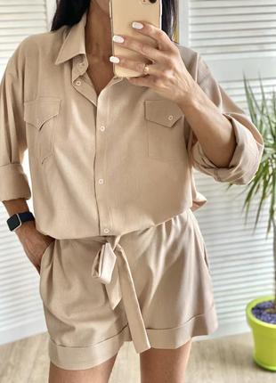 Льняной костюм люкс-качества