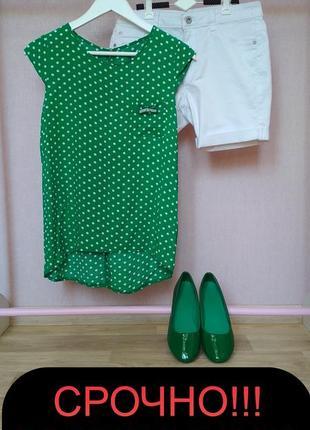 Комплект блуза+шорты,балетки