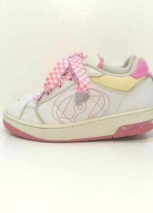 Детские кожаные роликовые кроссовки heelys р. 35