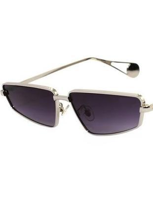Стильные солнцезащитные очки унисекс черные оправа золотистый металл