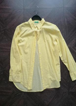 Хлопковая рубашка benetton