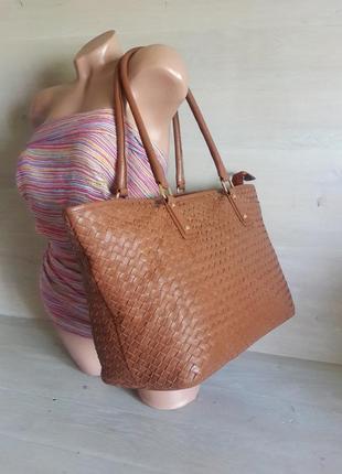 Шикарная , большая, легкая сумка aura! италия ! 100% кожа.