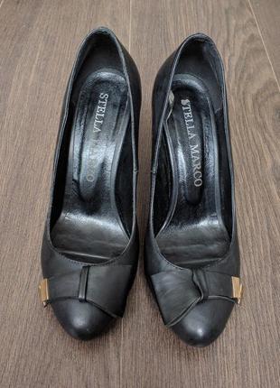 Кожаные черные туфли stella marco