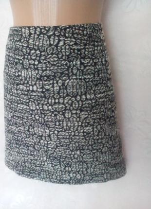 Трапециевидная меланжевая юбка на молнии с карманами, 3хl.