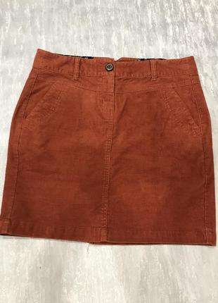 Стрейчевая вельветовая юбка tom tailor p -38