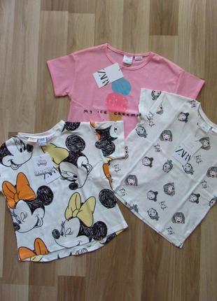 Zara детская футболка 3-4 года