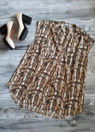 💃 блузка топ батал в змеиный принт питон от next отменного качества